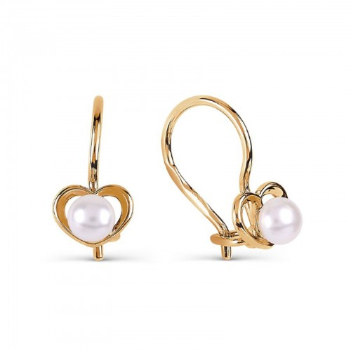 14ct Rose Gold Pearl Hook...