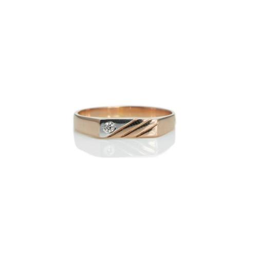 Men's 14k Rose Gold Ring