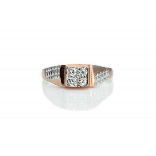 Men's Ring in 14k Rose and...