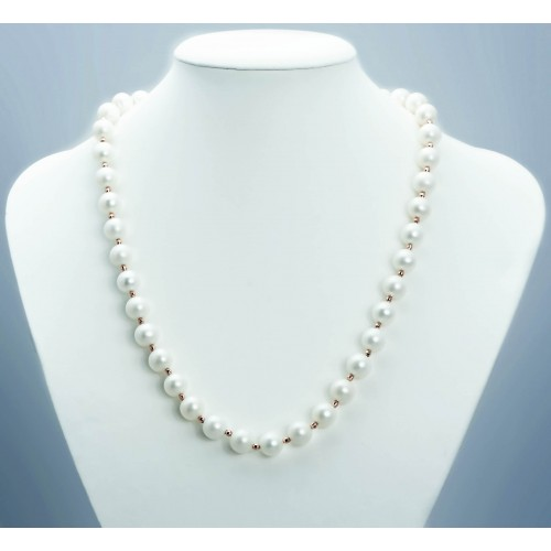 White Pearl Necklace with...
