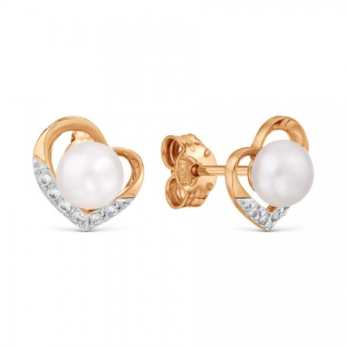 Rose Gold 14ct White Pearl...