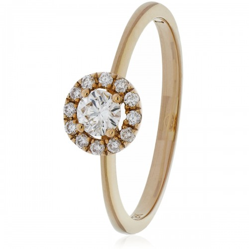 18k Rose Gold Diamond Ring