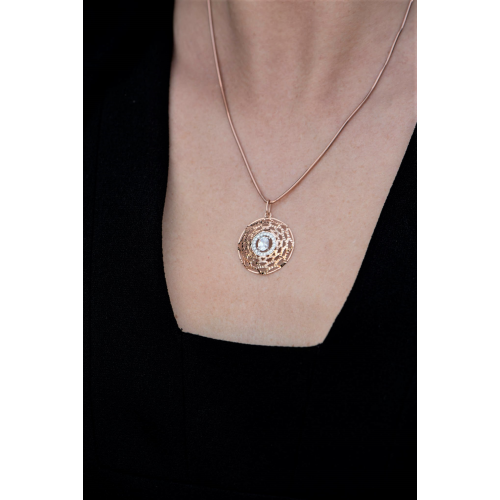 Round Women's Pendant in...