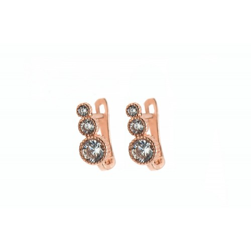 Tripple Stone Cz Earrings...
