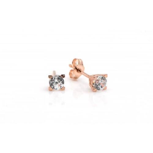 Square Stud Earrings in 14k...