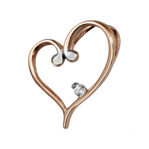 Heart Pendant in 14k Rose...